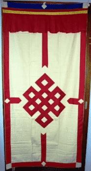 Tibetischer Türvorhang rot/creme