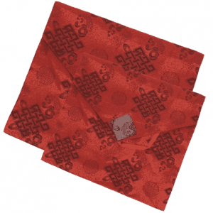 Brokat Buchhülle rot groß
