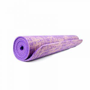 Yogi & Yogini Yogamatte Jute Violett (185 x 63 x 0.5 cm)