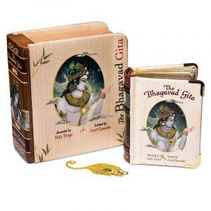 Bhagavad Gita in Geschenkverpackung aus Holz