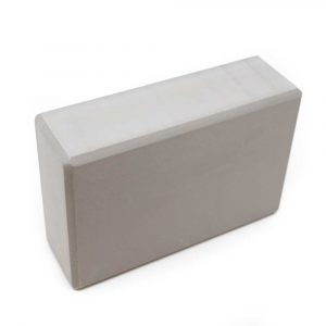 Spiru Yoga Block EVA-Schaumstoff Grau Rechteckig - 22 x 15 x 7,5 cm