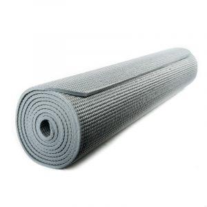 Yogi & Yogini PVC Yogamatte grau (185 x 63 x 0.5 cm)