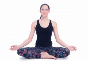 Yoga-Legging schwarz mit Mandala aufdruck Bio-Baumwolle M