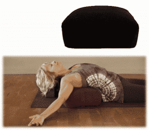 Meditationskissen/Bolster schwarz