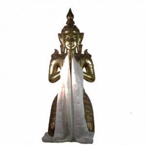 Tibetischer Luxus Katha Schal - Weiß - XL
